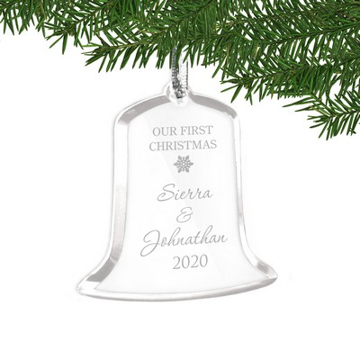 Our First Christmas Acrylic Bell Shaped Personalized Ornament