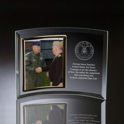 Air Force Glass Vertical 5x7 Photo frame