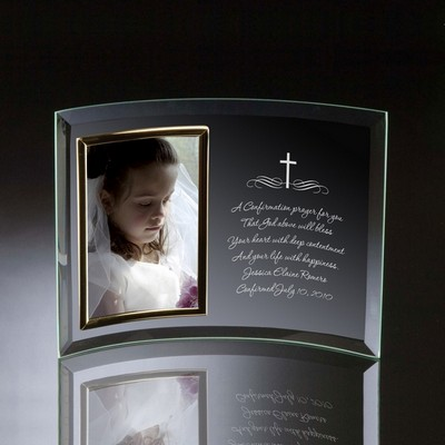 Holy Cross Curved Glass Vertical 4x6 Photo frame