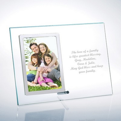 Glass Vertical 5x7 Photo Frame