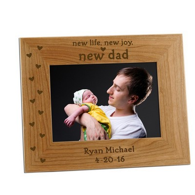 5x7 New Dad Personalized Photo Frame