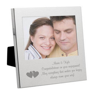 silver romantic hearts message from the heart frame - Engagement Photo Frame