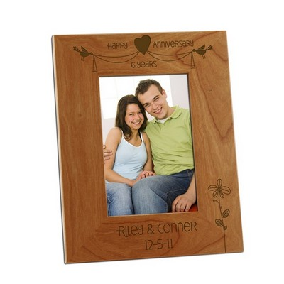 Charming Anniversary Day 4x6 Wooden Picture Frame