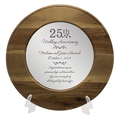 25th Anniversary Personalized Wooden Plate