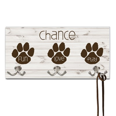 Paw Print Dog Leash Holder