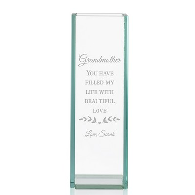 Personalized Tall Glass Vase for Grandmother