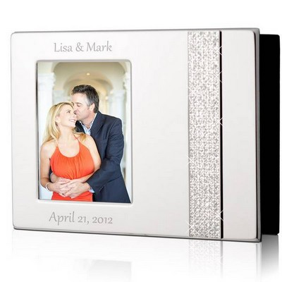 Personalized 4x6 Glitter Silver Photo Album