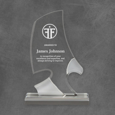 Personalized Acrylic Eagle Silhouette Award