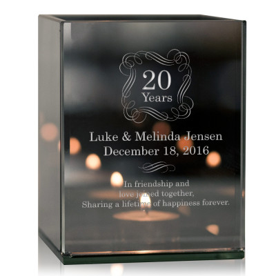 Personalized Anniversary Tea light Candle Holder