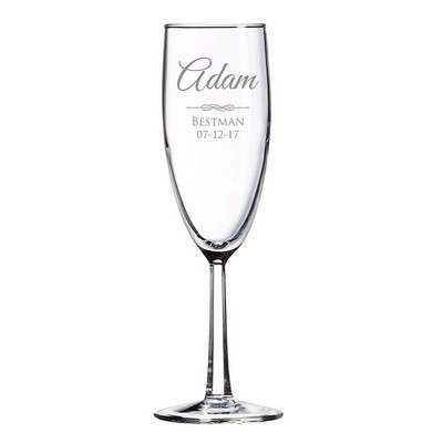 Personalized Best Man Glass Toasting Flute