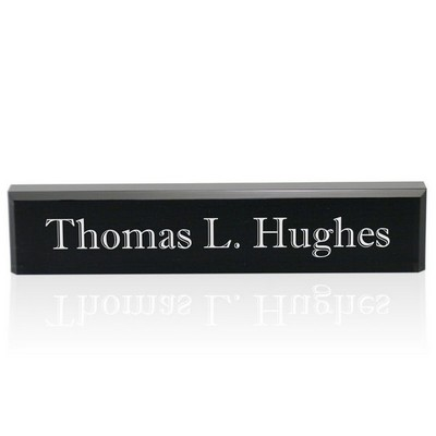 Personalized Black Acrylic Desk Name Plate