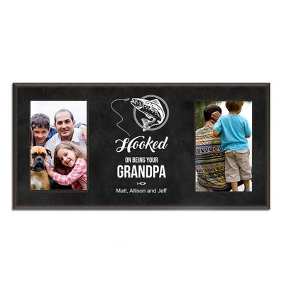 Grandfathers Black Double 4 x 6 Picture Frame