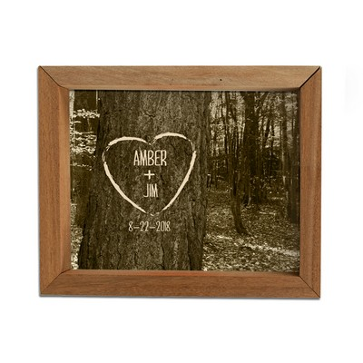Personalized Carved Heart Framed Shadow Box