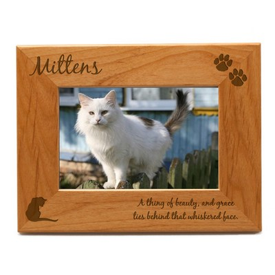 Personalized Cat 4x6 Photo Frame