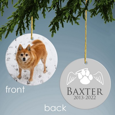 Personalized Ceramic Memorial Ornament for Pets