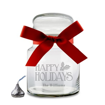 Personalized Christmas Candy Glass Jar