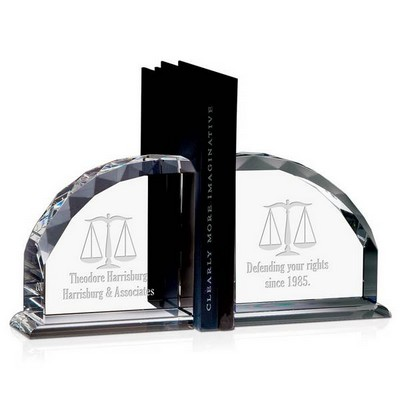 Personalized Crystal Legal Scales Bookends