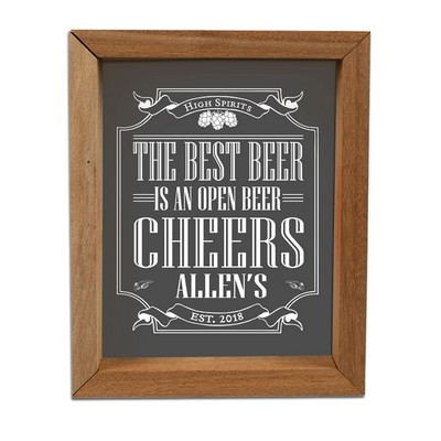 Personalized Solid Wood Frame Pub Shadow Box