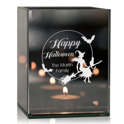 Personalized Halloween Tea Light Candle Holder