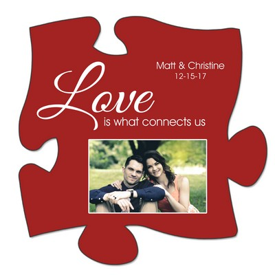 Personalized Love Connects Puzzle Wall Plaque