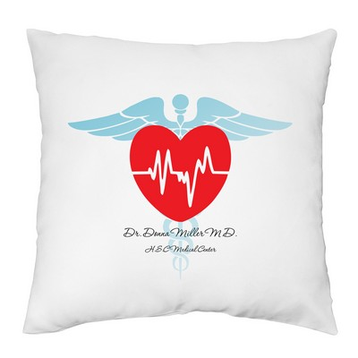 Personalized Medical Heart Pillow Case