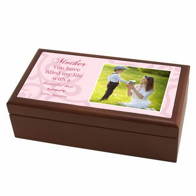 Personalized Memory Box with Photo for Mom