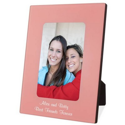 Personalized Pink Glass Photo Frame