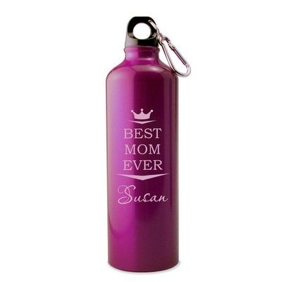 Personalized Pink Water Bottle for Mom