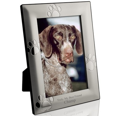 Personalized Puppy Paw Print 4x6 Picture Frame