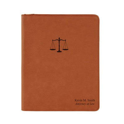 Personalized Rawhide Leatherette Portfolio for Lawyers