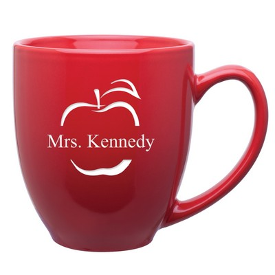Personalized Red Ceramic Coffee Mug for Teachers