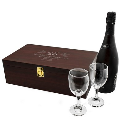 25th Anniversary Personalized Wine Box with Accessories