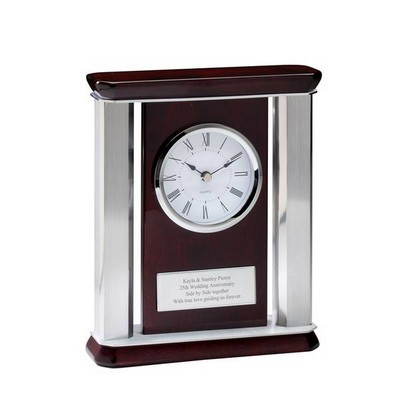Personalized Rosewood Mantle Clock