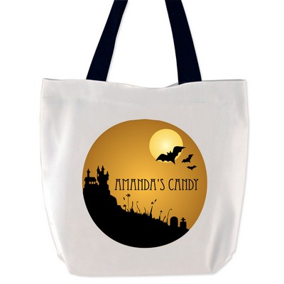 Personalized Spooky House Treat Bag