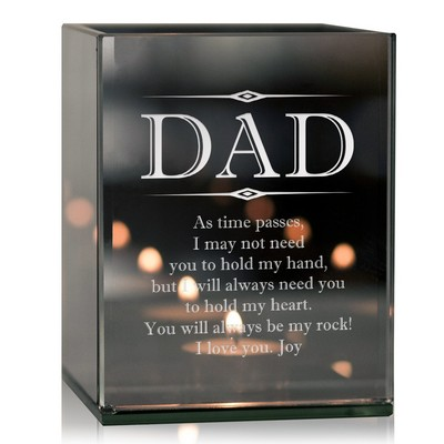 Personalized Keepsake Tealight Candle Holder for Dad