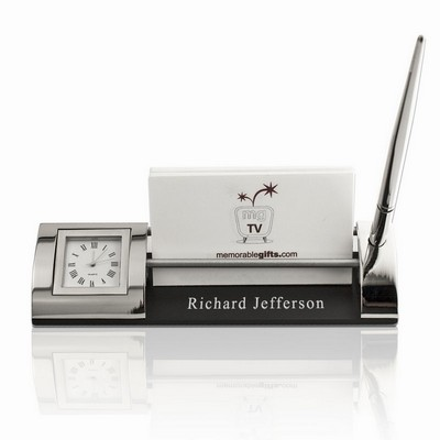 Personalized Trio Business Card Holder