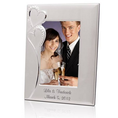 Personalized Wedding Romance Silver 4x6 Picture Frame