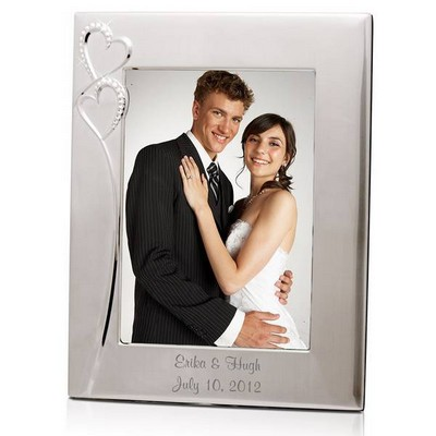 Personalized Wedding Romance Silver 8x10 Picture Frame