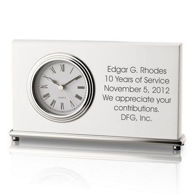 Personalized White Piano Finish Modern Clock