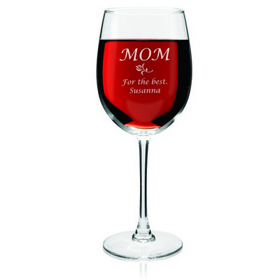 Personalized Wine Glass for Mom