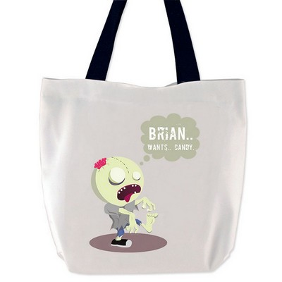 Personalized Zombie Boy Halloween Treat Bag
