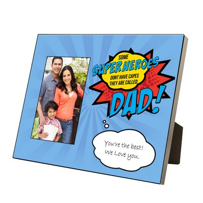 Personlized 4 x 6 Super Dad photo frame