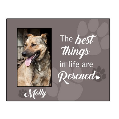 Rescued Pet Personalized 4x6 Picture Frame