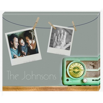 Retro Family Custom Photo Wall Canvas