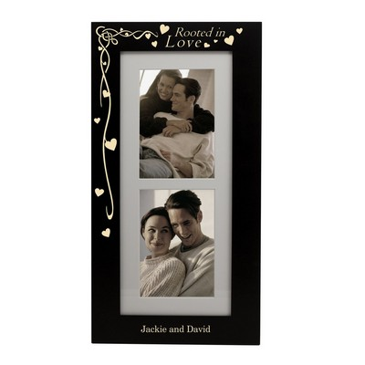 Rooted in Love Personalized 5x7 Black Picture Frame