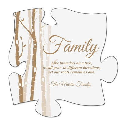 Roots of a Family Puzzle Wall Plaque