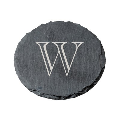 Round Slate Personalized Coaster Set