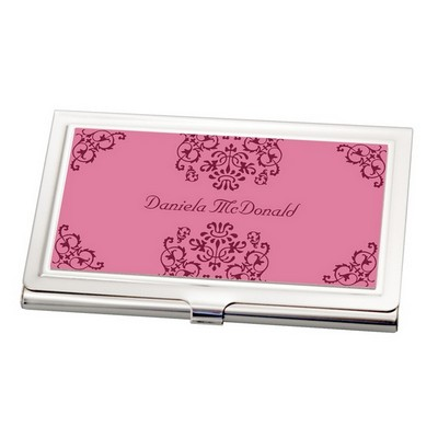 Personalized business card holders pocket business card cases elegant scroll business card holder colourmoves