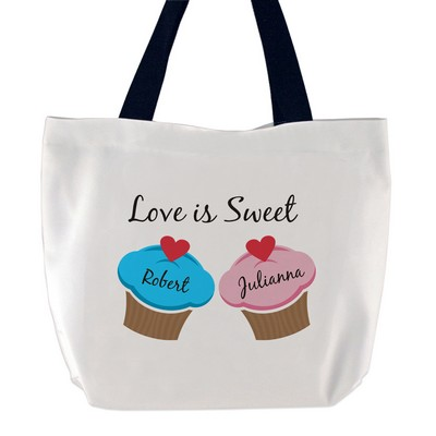 Love is Sweet Cupcake Tote Bag