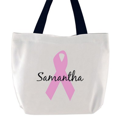 Pink Ribbon Breast Cancer  Large tote bag